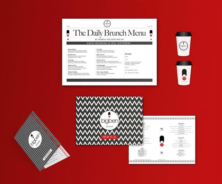 menu and corporate identity for bar restaurant by botsasdesignstudio