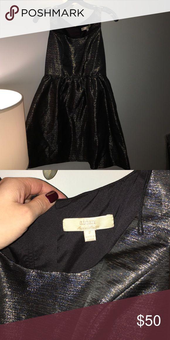 Aidan Mattox Dress sz 2 Black and Gold Aidan by Aidan Mattox Dress size 2 with pockets. Worn twice. Great condition. Aidan Mattox Dresses Midi