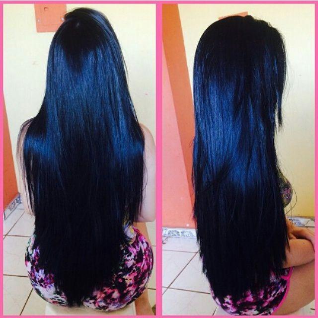 Favoritos 165 best Cabelos pretos e longos images on Pinterest | Long hair  MX72