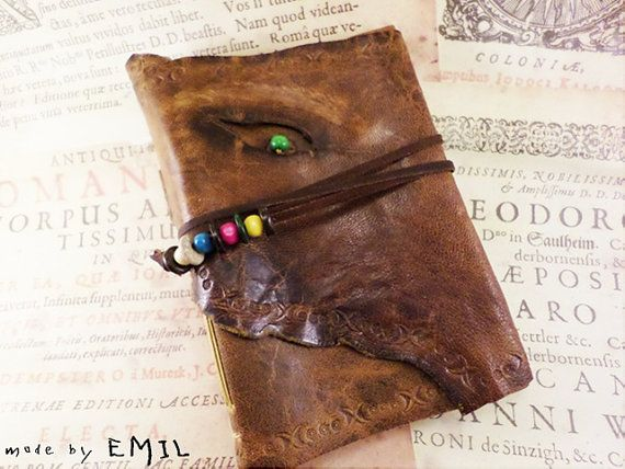Handbound Journal rustic brown leather white paper by ArtNotebooks