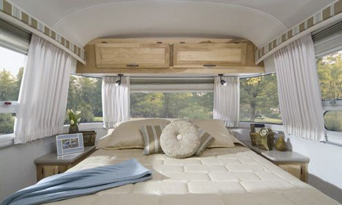 airstream light and airy bedroom