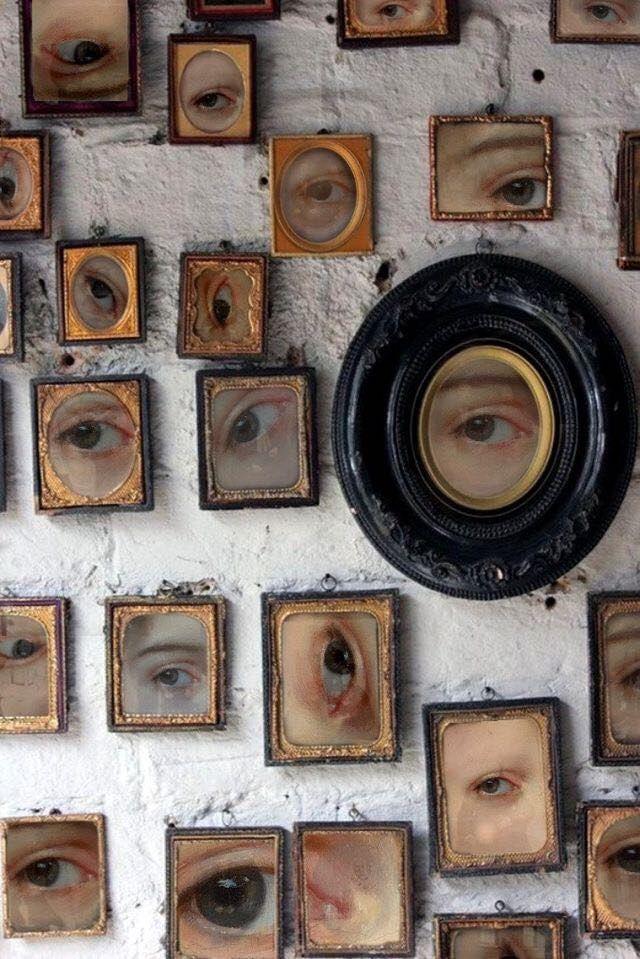 eyes frames wall