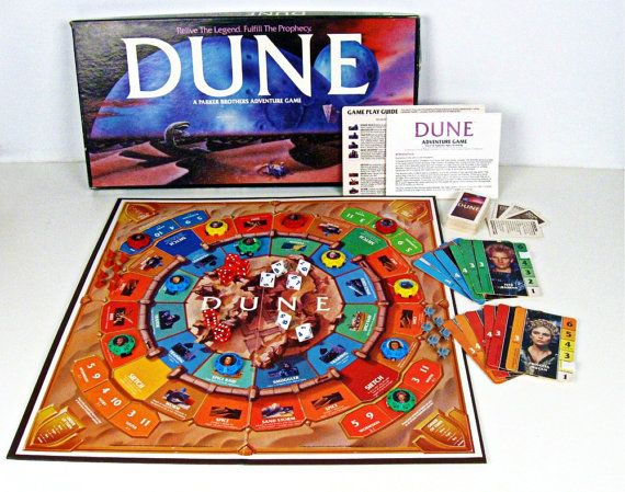 vintage board game - Dune - Parker Brothers - sci-fi - 1980s