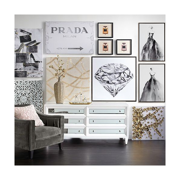 Prada Art Unique Chic Wall Art Z Gallerie Wall Decor Living Room Wall Decor Bedroom Rooms Home Decor