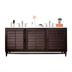 72 Inch Double Sink Bathroom Vanity in Burnished Mahogany with Top Choice