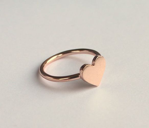 Rose Gold Heart Ring - Mother's Day $45
