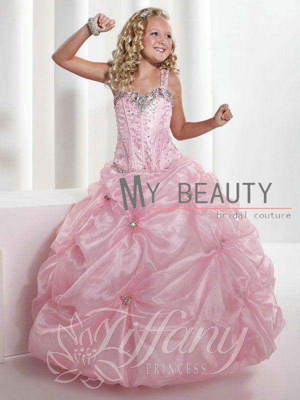 35 best vestidos images on Pinterest | Flower girls, Girls pageant ...