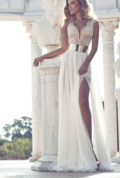 white prom dresses #prom #dress #evening