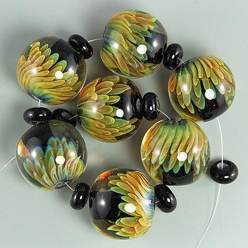 ikuyo handmade lampwork glass focal bead set sra ebay