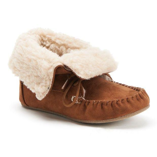 81875a2ea7091 Faux-Fur Moccasin Ankle Boots