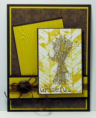 Truly grateful and stampin up card using truly grateful with stampin