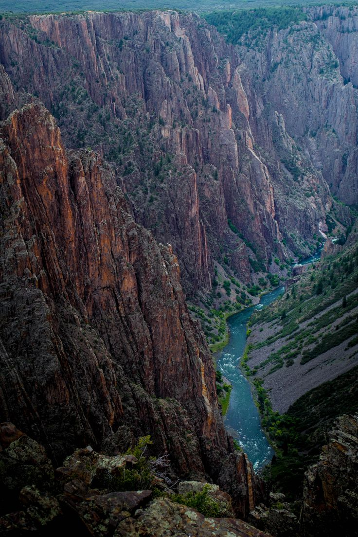 Black Canyon of the Gunnison - one of the steepest canyons [OC] [2592 x 3888]