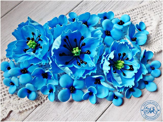 MiniArt - hand made with love: Foamiranowych kwiatów ciąg dalszy :)