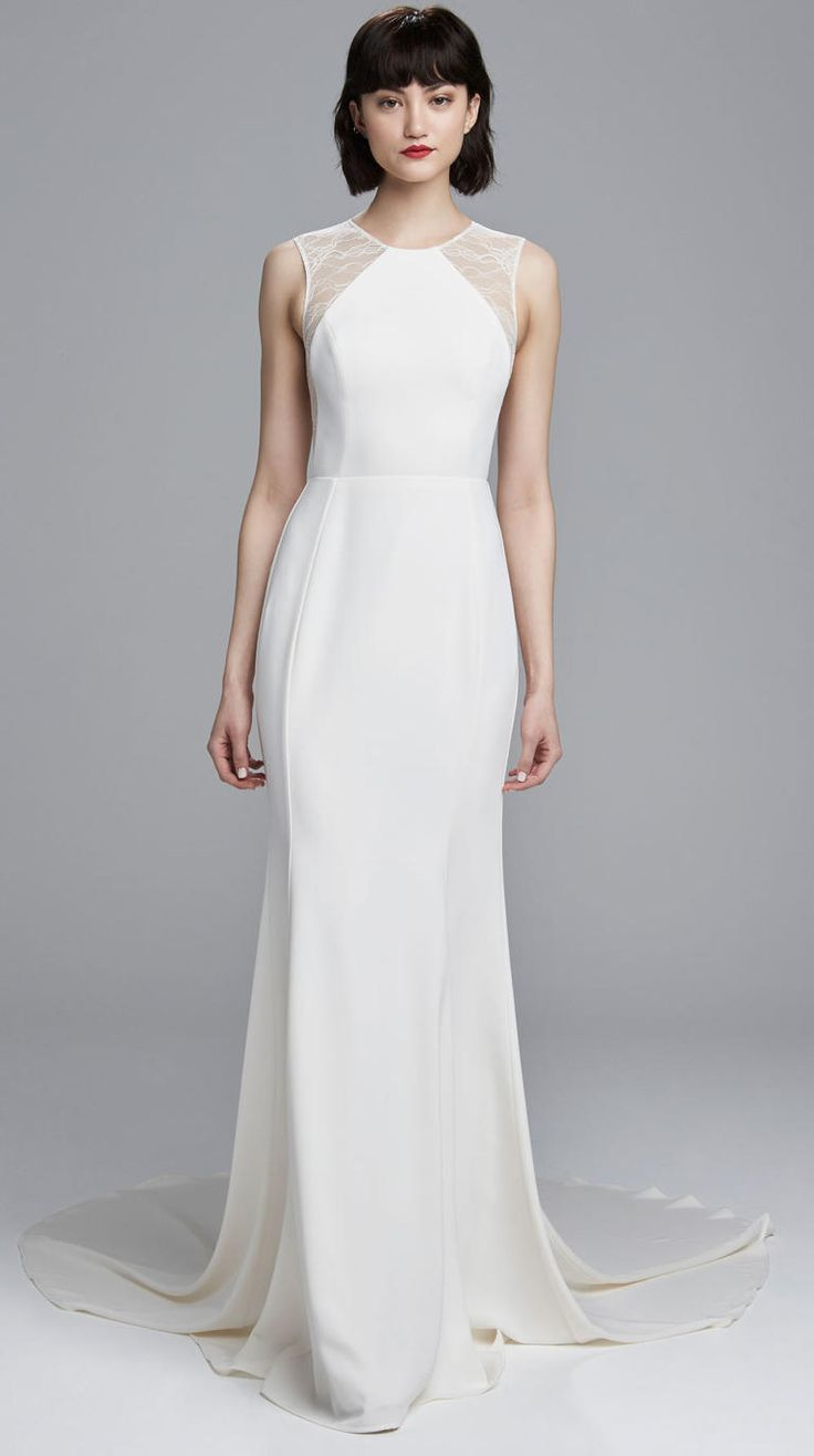 Nouvelle by Amsale Spring 2017 | https://www.theknot.com/content/nouvelle-amsale-wedding-dresses-bridal-fashion-week-spring-2017