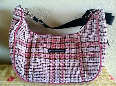 Petunia Pickle Bottom Diaper Bag Shades of Pink Stroller Straps Plaid | eBay