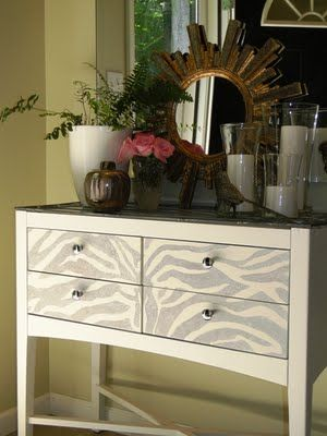I LOVE Zebra print, especially when the color variation is subtle like this light silver-Stunning.