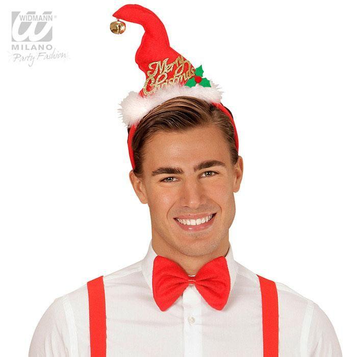 """Haarreif """"Merry Christmas"""" mit Fliege #weihnachtsfeier #weihnachtsoutfit #wichtelgeschenk"""