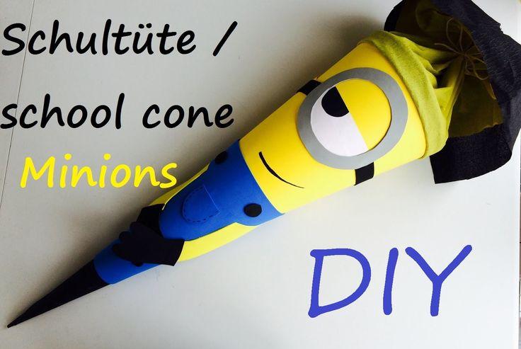 Minions school cone. Schultüte. Zuckertüte (back to school inspired craft)