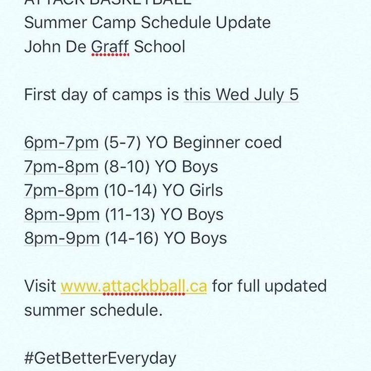 @attack_basketball Summer Camp 2017 John De Graff. Camps start this Wed.  http://ift.tt/2ujC9zE for full updated summer schedule.  #getbettereveryday #youthball #attackbasketball