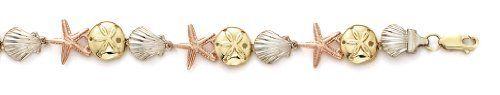 14k Tricolor Shell Sanddollar Starfish Bracelet - 7.5 Inch - JewelryWeb JewelryWeb. $1829.20. Save 50%!
