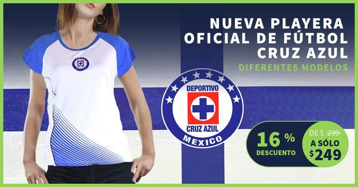 ¡Cruz Azul por siempre! Lleva tu playera oficial del Cruz Azul, Baytu te la envía hasta tu hogar ;) #ElQueBuscaEncuentra #CruzAzul  https://baytu.mx/mujer/1052-playera-para-dama-de-f%C3%BAtbol-del-equipo-cruz-azul.html