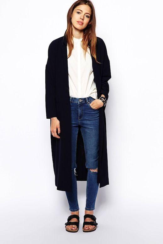 Come abbinare il cardigan: al posto della giacca e super long!