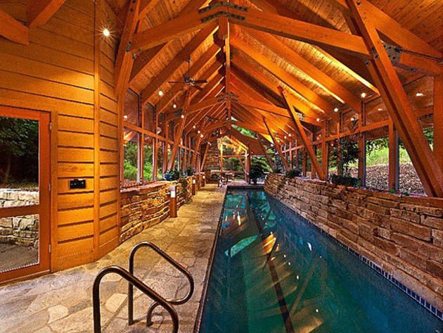 1991 best images about love log cabins american lifestyle - Log cabins with indoor swimming pools ...