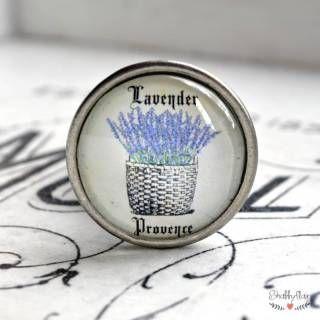 shabbyflair Der Möbelknopf LAVENDER PROVENCE aus Metall verzaubert Möbel zu Lieblingsstücken Unsere Möbelknäufe aus der Lavender Field Serie lassen sich