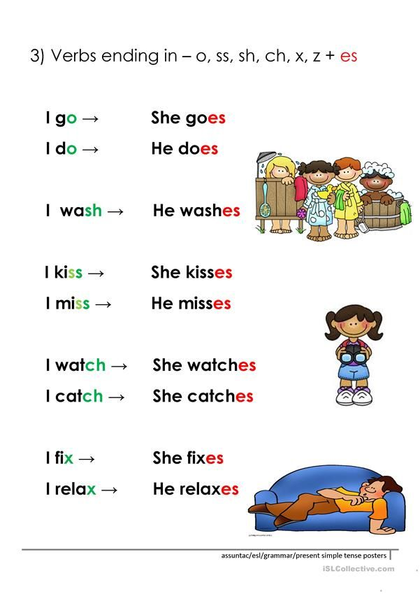 3rd Person Present Simple Rules Worksheet Free Esl Printable Worksheets Made By Teachers Learn English Words English Vocabulary Words English Phrases Simple english worksheets for