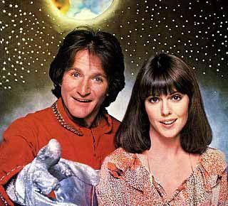 Nanu! Nanu! It's Mork and Mindy - Robin Williams and Pam Dawber.