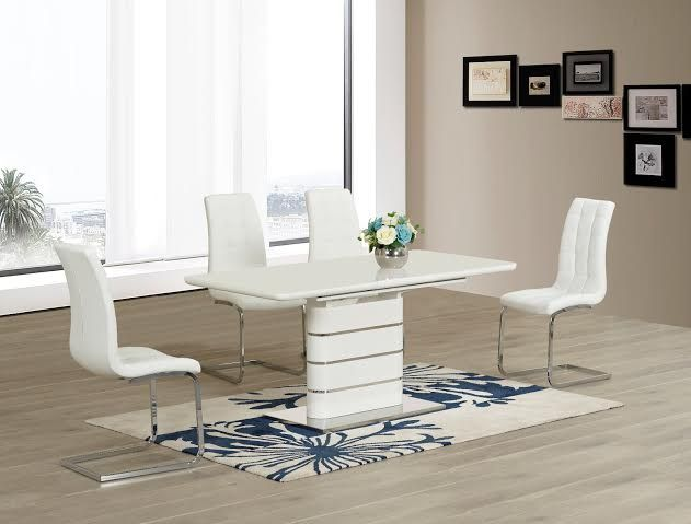 See our wide range of Italian designed Extending Dining Tables and get yours just in time for #Christmas Vera Extending Dining Table pictured here with the Enzo Leather Dining Chair. From only 375.00GBP