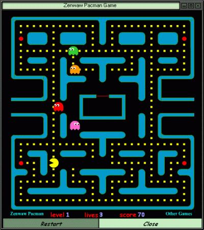 Pacman, eindeloos gespeeld op mijn zelf bij elkaar gespaarde Atari-spelcomputer.
