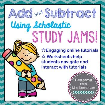 Freebie! Study Jams are engaging tutorials from Scholastic that kids love! These sets help kids navigate the tutorials and practice problems and make checking their work easy! Great for centers!