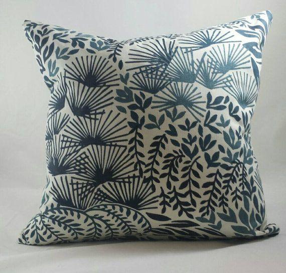 Robert Allen Hanabi Burst midnight blue cushion cover.
