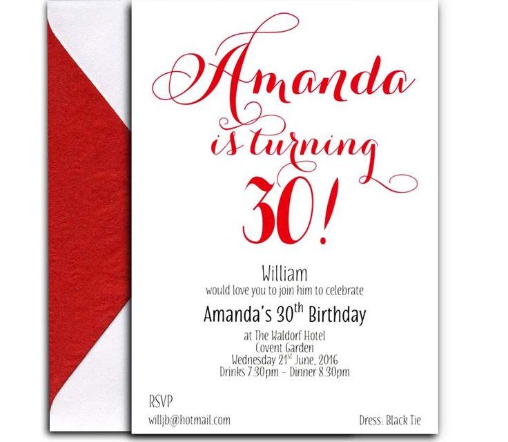 30th Birthday Invitation from Heritage Stationery