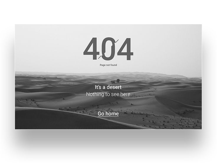 The 8th shot for the Daily UI challenge. 404 page.