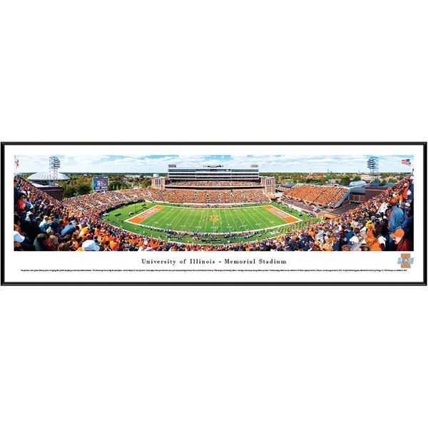 "Illinois Fighting Illini 13"" x 40"" Stadium Standard Frame Panorama - $99.99"