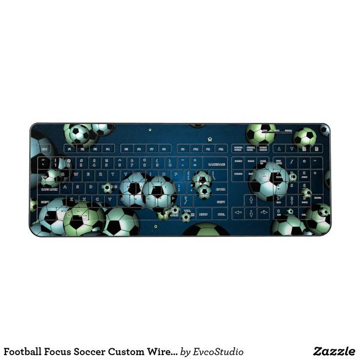 Football Focus Soccer Custom Wireless Keyboard