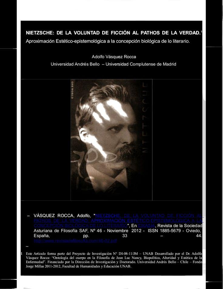 Revista Observaciones Filosóficas - Inicio - 2014  Nietzsche www.observacionesfilosoficas.net/ Revista de Filosofía Contemporánea, con secciones dedicadas a la Antropología, Estética, Epistemología, Ética, Psicología y Literatura.