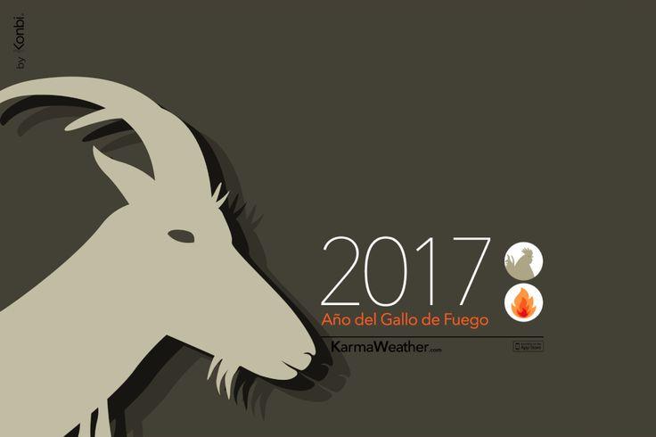 Cabra 2017 - Horóscopo chino 2017 para el signo de la #cabra durante el Año del Gallo 2017. Por Karma Weather #zodiaco #horoscopo #anonuevo #anonuevochino #karmaweather