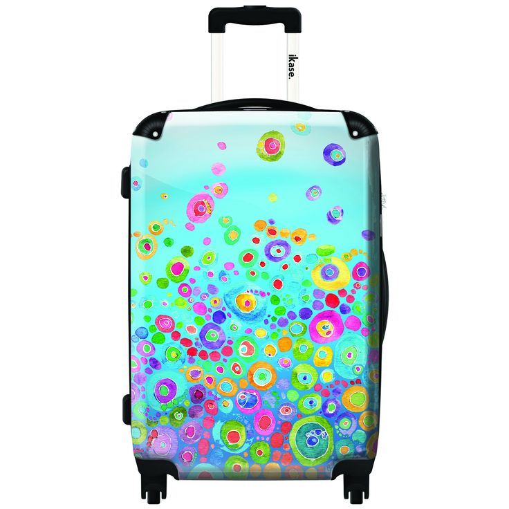 iKase Bubble Candy 24-inch Hardside Spinner Upright Suitcase
