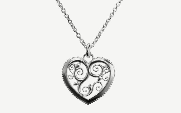 """""""Lumoava Hertta"""" (quote) Pendant made of sterling silver Finnish design by Carina Blomqvist Made in Finland by saurum.fi"""