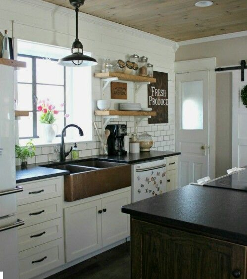 Ceiling and kitchen