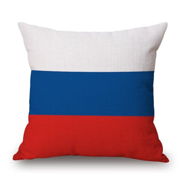 2016 Stylish European Cup Russian Flag Pattern Square Shape Flax Cushion Cover #hats, #watches, #belts, #fashion, #style