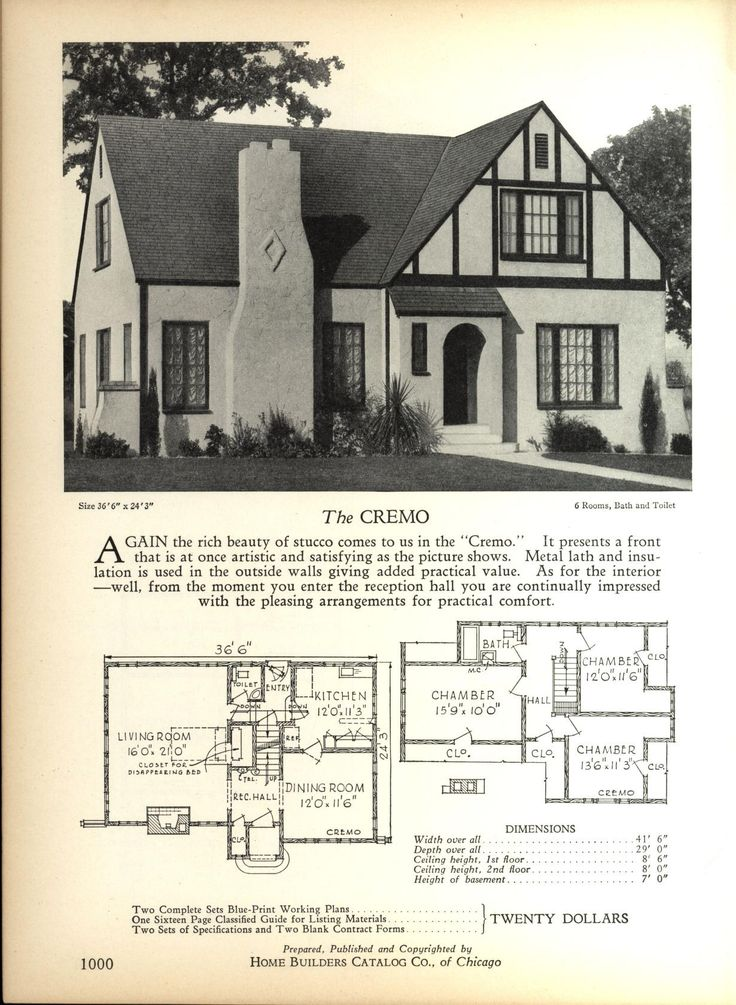 The CREMO   Home Builders Catalog: Plans Of All Types Of Small Homes By Home