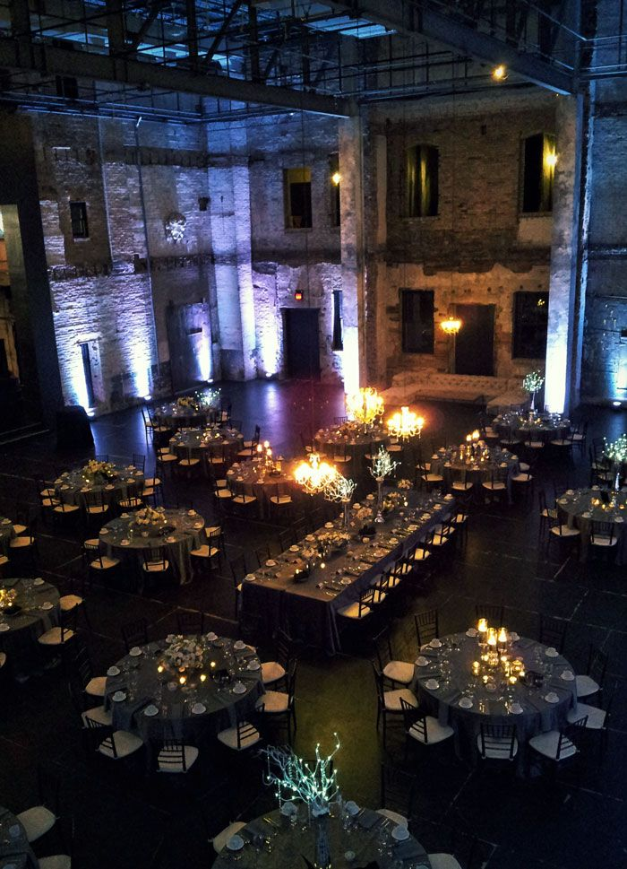Another shot of a dinner set up for 185 here in ARIA, warehouse wedding venue in Minneapolis, Minnesota.