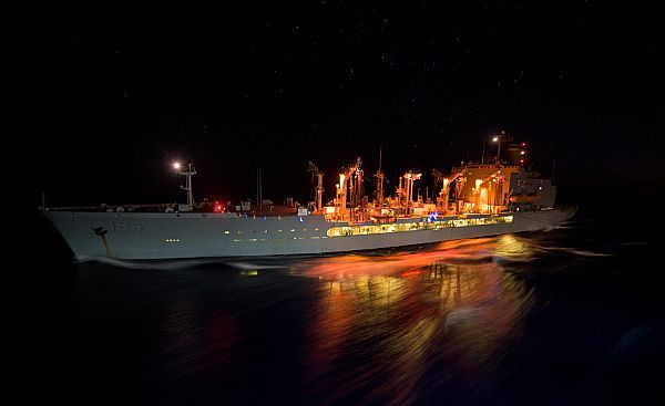 CORAL SEA (July 18, 2017) The Military Sealift Command fleet replenishment oiler USNS John Ericsson (T-AO 194) is underway alongside the Navy's forward-deployed aircraft carrier, USS Ronald Reagan (CVN 76), as part of a replenishment-at-sea during Talisman Saber 2017. Talisman Saber is a realistic and challenging exercise that brings service members closer and improves both U.S. and Australia's ability to work bilaterally and multilaterally.
