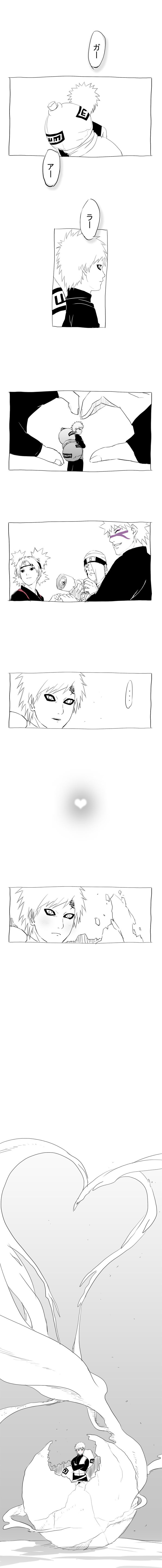 Gaara, Temari, Kankuro and Baki, Naruto Shippuden i think this is so adorable... love can break Gara's ultimate defense<3
