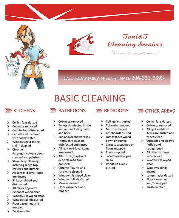 create a flyer for a cleaning services companny