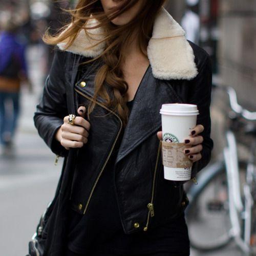 #leather #jacket #braid
